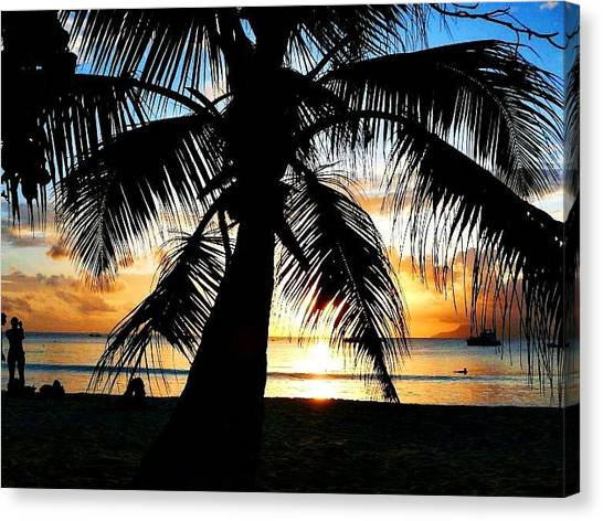 Beach Canvas Print by Jenny Senra Pampin