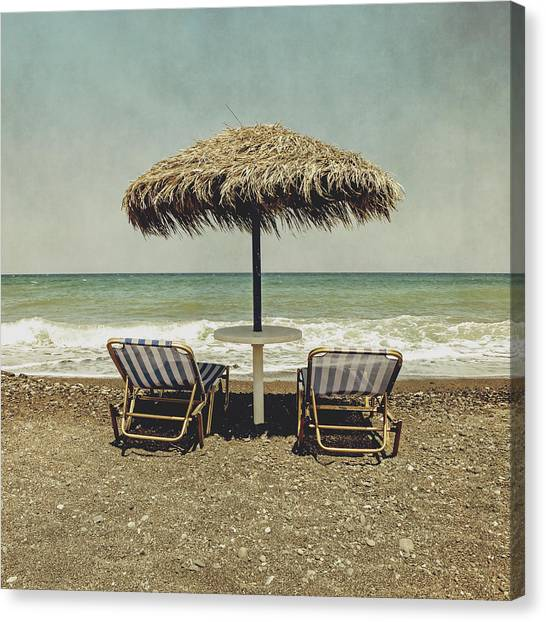 Summer Holiday Canvas Print - Beach by Joana Kruse