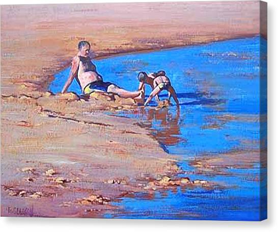 Sand Castles Canvas Print - Beach Play by Graham Gercken