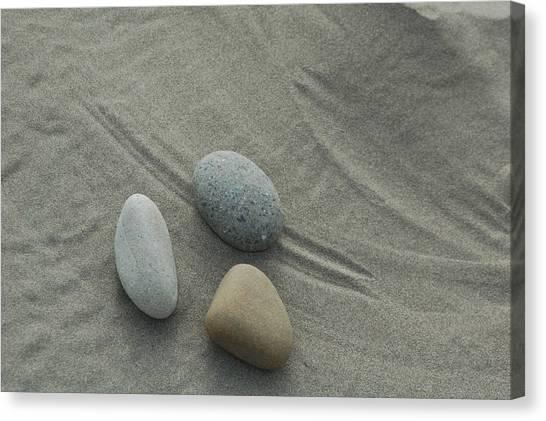 Beach Rocks Still Life Canvas Print