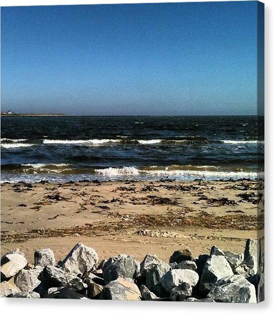 Mississippi Canvas Print - #beach #sand #rocks #waves #beautiful by Tammy Gossett