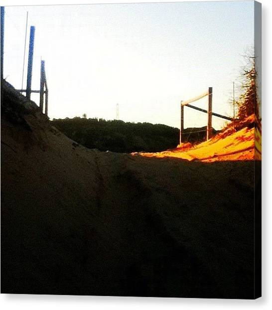 Pathway Canvas Print - #beach #sand #sun #fence #pathway by Pictures 🌺 Photos 📷