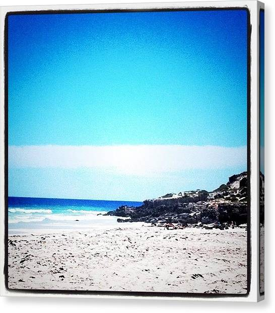 Groin Canvas Print - #beach #sand #water #ocean #sea #point by Kirk Roberts