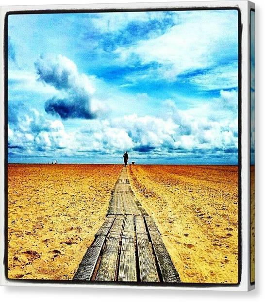 Norfolk Canvas Print - Beach Walkway #lowdownground #cloudporn by Invisible Man