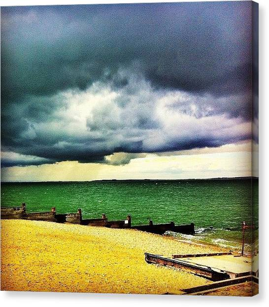 Sands Canvas Print - #beach #whitstable #sea #sand #summer by Samuel Gunnell
