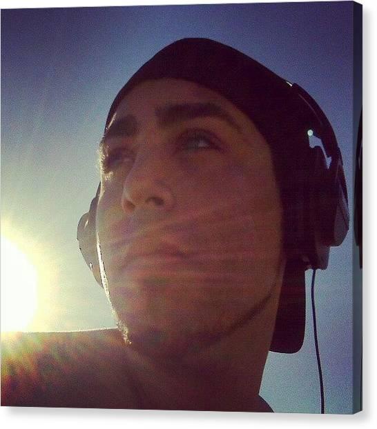Headphones Canvas Print - #beaches #headphones #ralphyc90 #me by Raphael Antonio