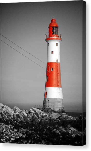Beachy Head Lighthouse Canvas Print by Mark Leader