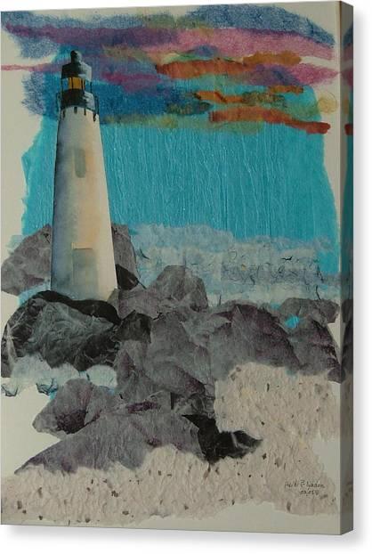 Beacon On The Rocks Canvas Print