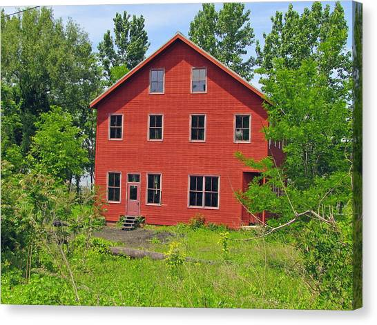 Beacon Red House Canvas Print