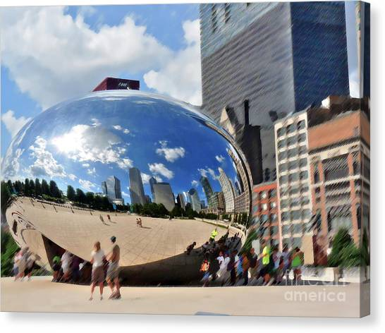 Cloudgate Canvas Print - Bean In Summer by David Bearden