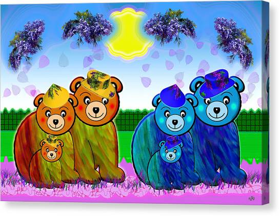 Bears Canvas Print by Victoria Regueira