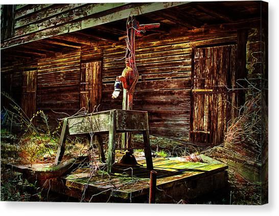 Beaten Down Barn Building Canvas Print