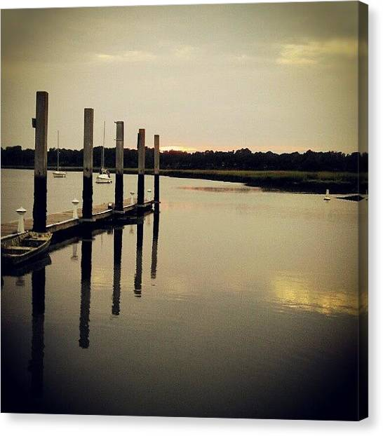 Marshes Canvas Print - #beaufort #water #southcarolina by Brian Evans