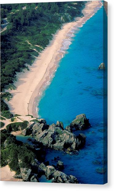 Beautiful Bermuda Beach Canvas Print by Carl Purcell