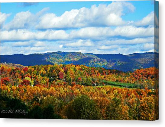 Beautiful Blue Ridge Mountains Canvas Print