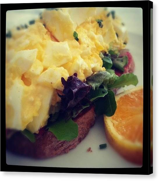 Bakeries Canvas Print - #beautiful #eggsalad #sandwich #foodie by Lisa Marchbanks