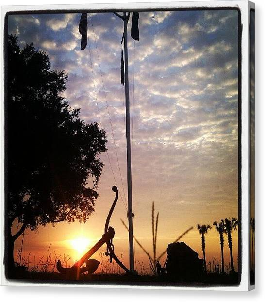 Sunset Canvas Print - Beautiful Evening At The Yacht Club by Dustin K Ryan