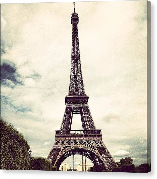 Soccer Leagues Canvas Print - #beautiful #goergeous #eiffeltower by Paulina Valdes