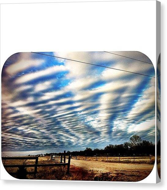Oklahoma Canvas Print - Beautiful Sky. This Is Why I Love by Chandler Kardaras