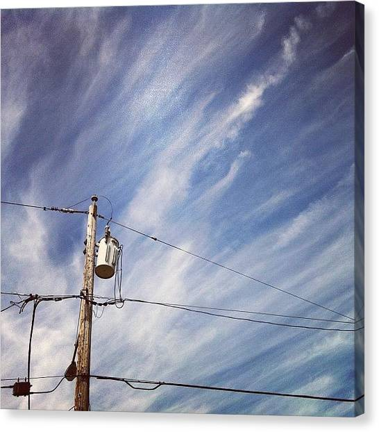 Philadelphia Canvas Print - Beautiful Sky This Morning by Katie Cupcakes