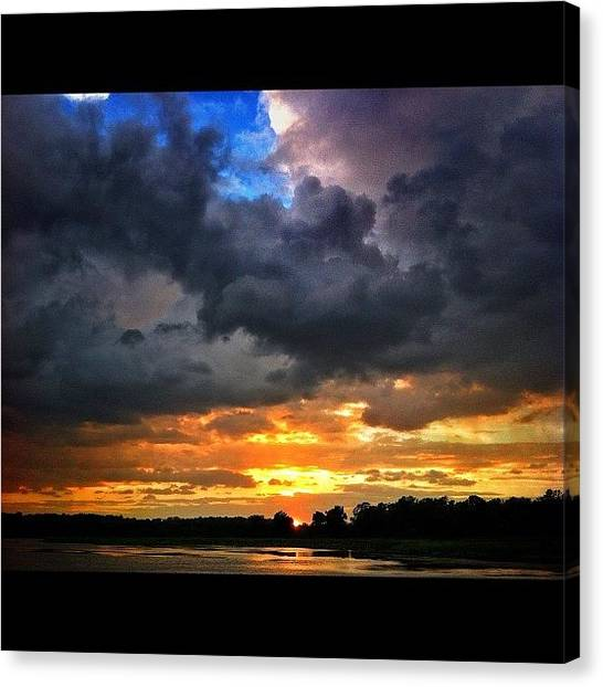 Hurricanes Canvas Print - #beautiful #storm #lake #sibley by Brittany B