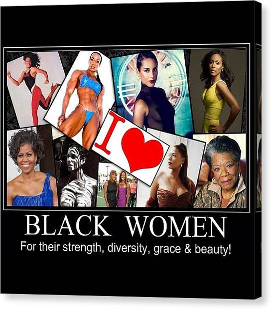 Athlete Canvas Print - Beautiful Strong Black Women by Nigel Williams