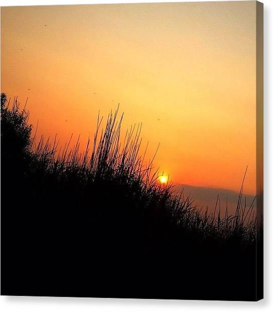 Sunset Horizon Canvas Print - #beautiful #sun #sunset #funday by Kirsten Taubin