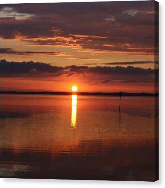 Back Canvas Print - Beautiful Sunset From This by Ole Back