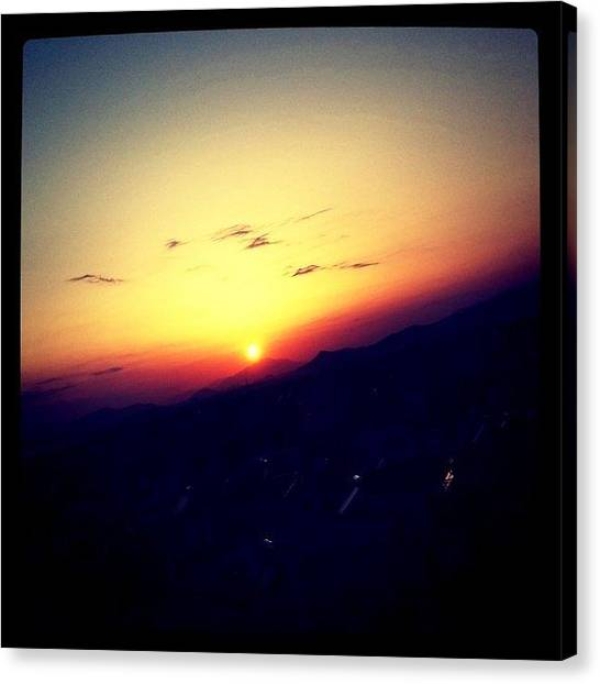 Athens Canvas Print - Beautiful Sunset In Athens! by Vassilis Valimitis