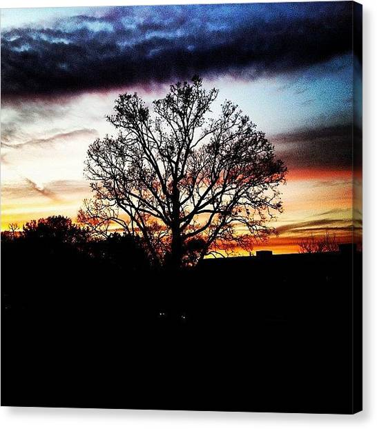 Thanksgiving Canvas Print - Beautiful Sunset This Blacksburg by Phoebe Hannah