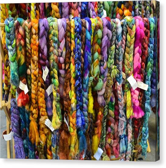 Beauty In Braided Roving Canvas Print