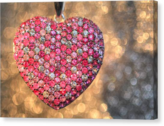 Bedazzle My Heart Canvas Print
