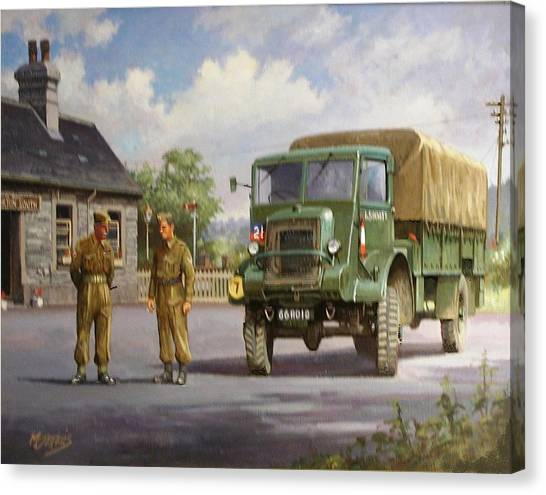 4x4 Canvas Print - Bedford Ql by Mike Jeffries