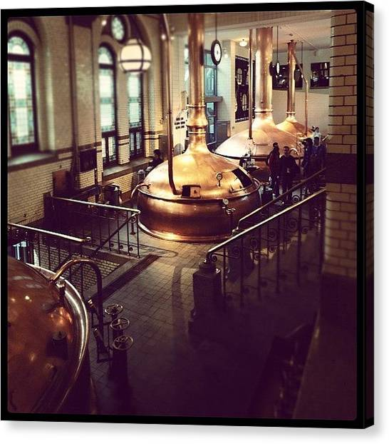 Factories Canvas Print - Beer Brewing In Amsterdam by George Saad