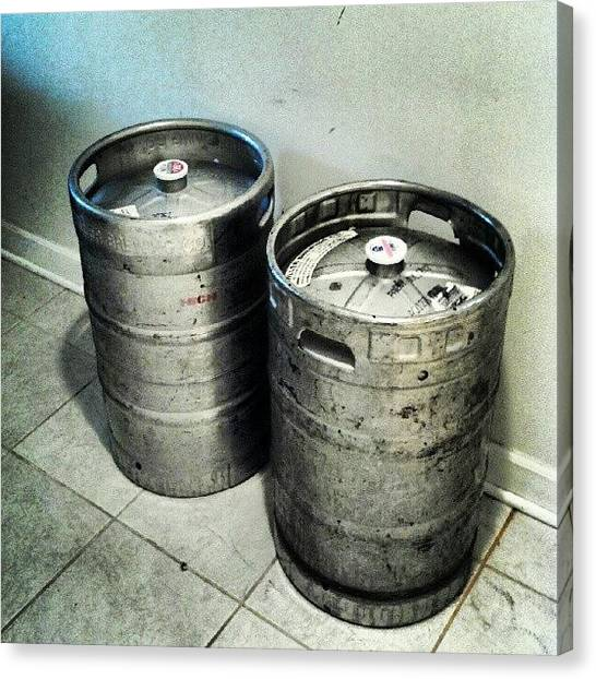 Keg Canvas Print - #beer #keg #beerkeg #33gallons by Matt Guzik