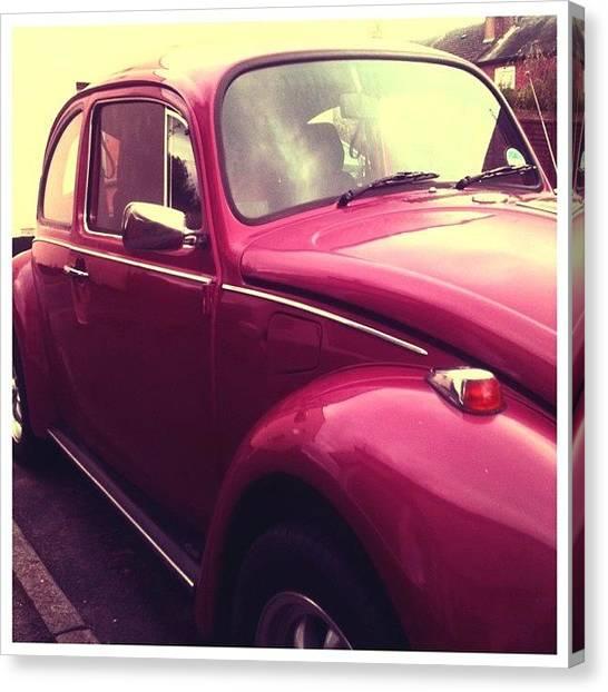 Beetles Canvas Print - #beetle #car #vintage #vintagecar by Just Berns