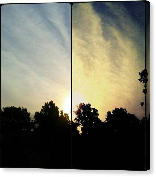 #before & #after #sunrise #sky #clouds Canvas Print by Kel Hill