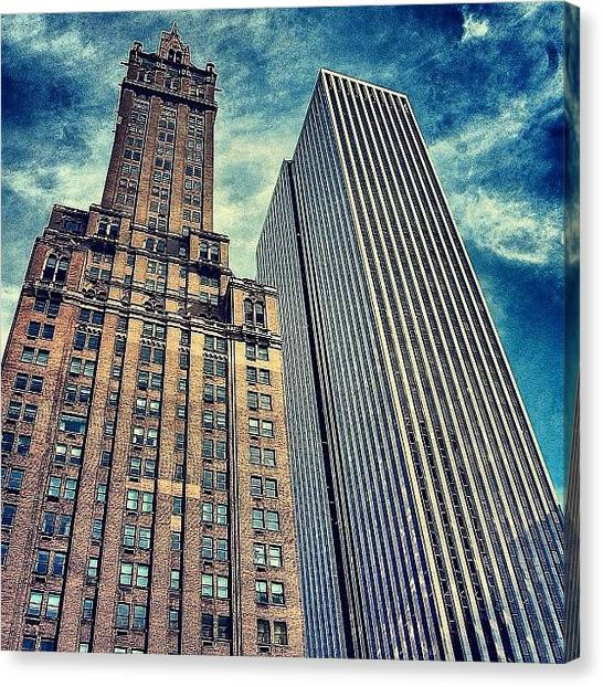 Skyscrapers Canvas Print - Before And After - New York by Joel Lopez