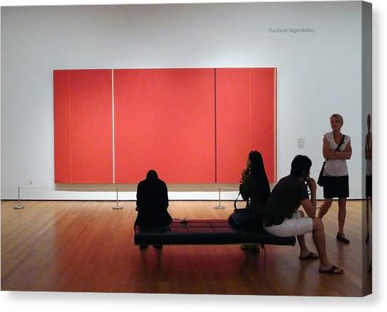 Before Cadmium Red Canvas Print