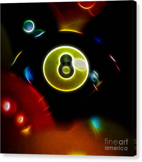 Behind The Eight Ball - Square - Electric Art Canvas Print by Wingsdomain Art and Photography