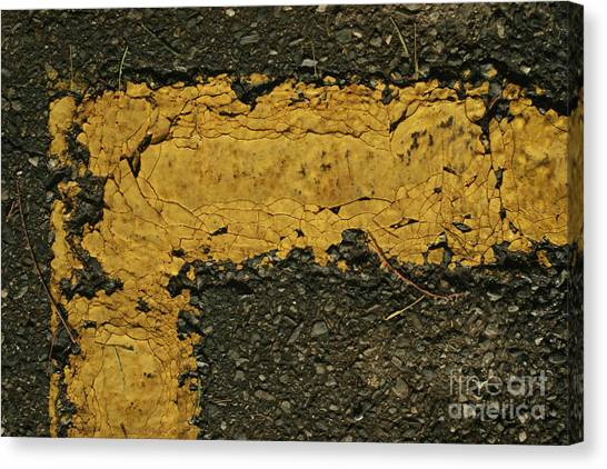 Behind The Yellow Line Canvas Print
