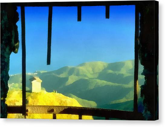 Beigua Landscape From Miniera House Canvas Print