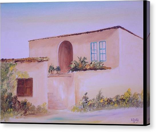 Bekaa House Canvas Print by Nabil Wehbe