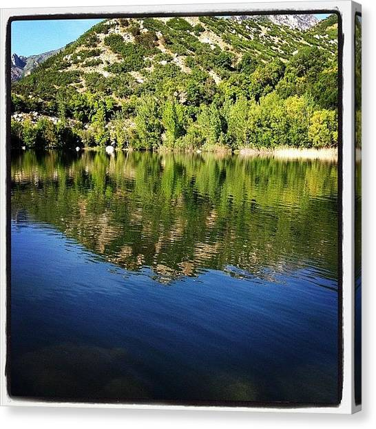 Salt Canvas Print - Bell Canyon Reservoir by Doug Smeath