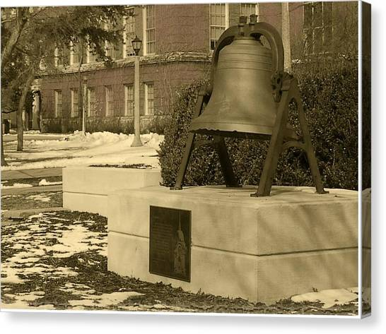 Illinois State University Canvas Print - Bell In Winter by Abraham Adams Photography