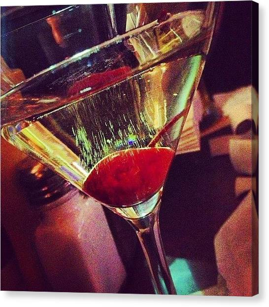 Martini Canvas Print - #bellini #martini #fridaynight #dranks by Bianca De Sanctis