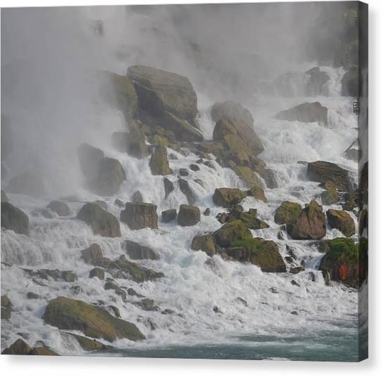 Below The Waterfall Canvas Print by Naomi Berhane