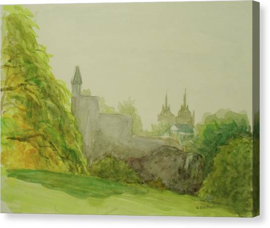 Belveder Castle Central Park Ny Canvas Print