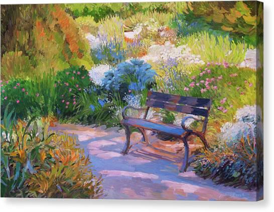 Bench On Margaret Island Canvas Print