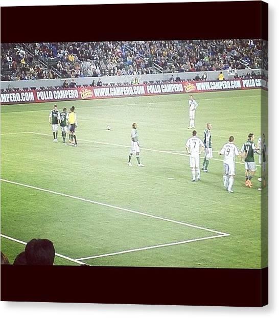 Soccer Teams Canvas Print - Bend It Like Beckham by Spenser Davis